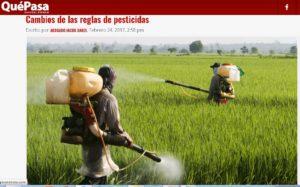 Cambios de las reglas de pesticidas