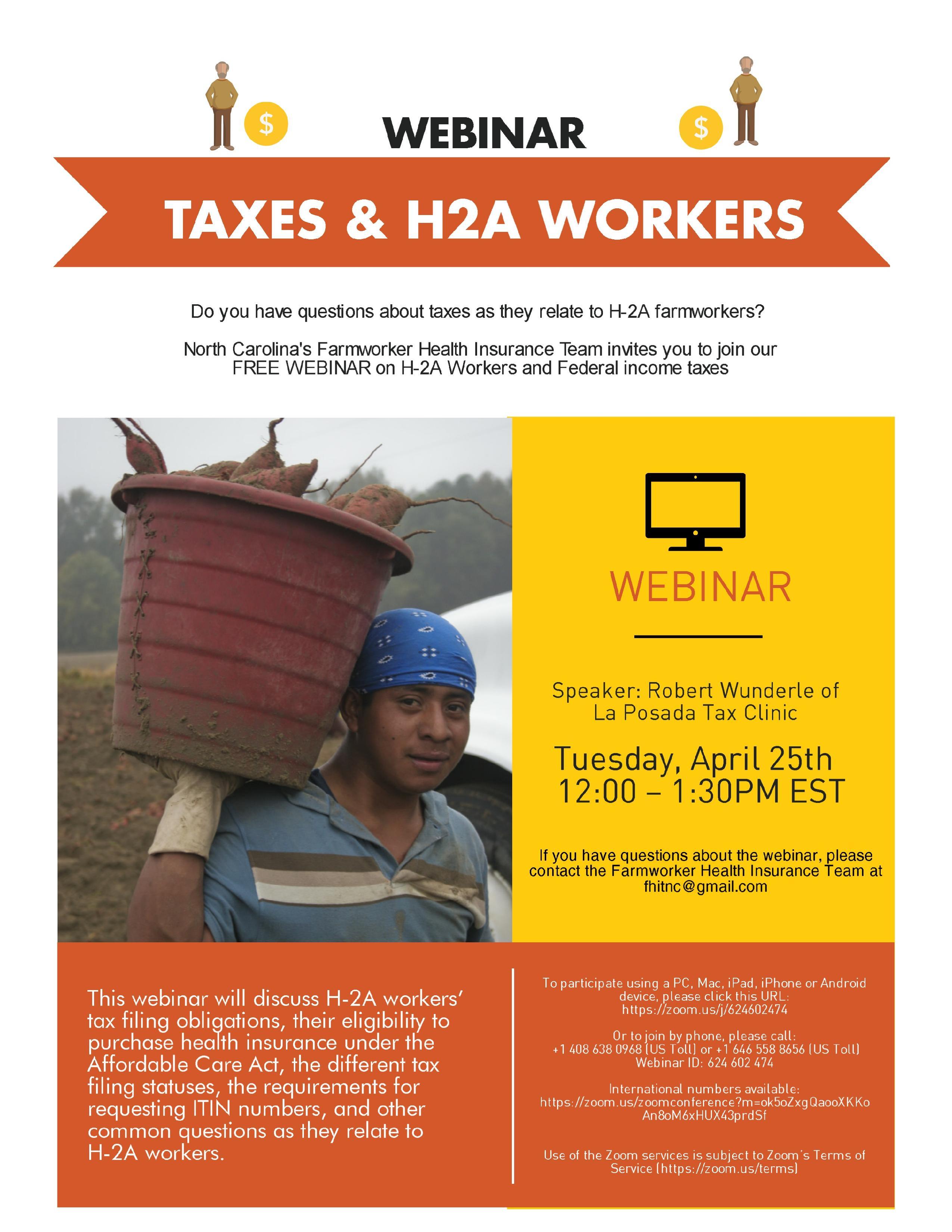 H2A and Taxes Webinar